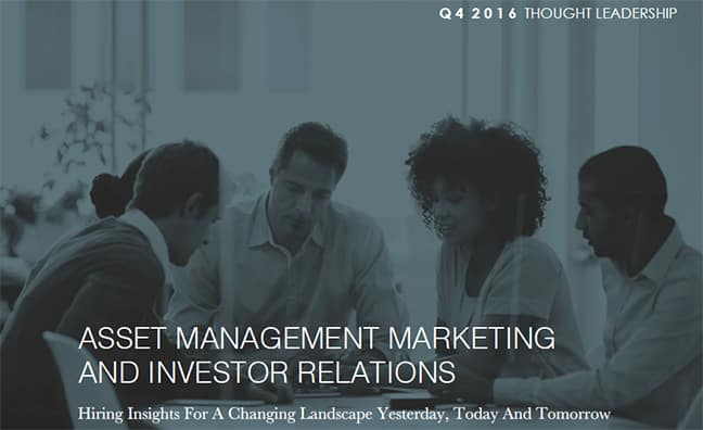 Thought Leadership: Marketing & Investor Relations Search Update