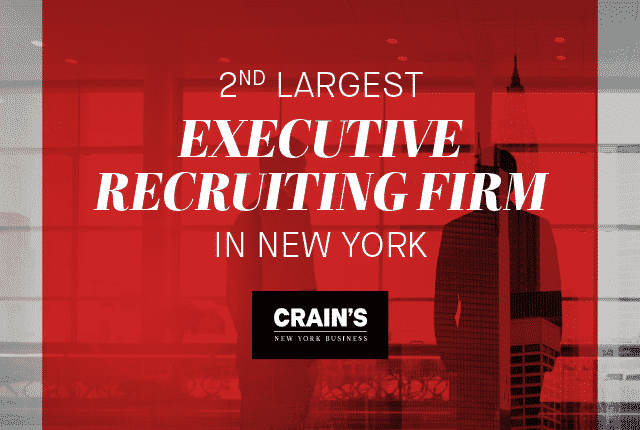 Second Largest Executive Recruiting Firm in New York