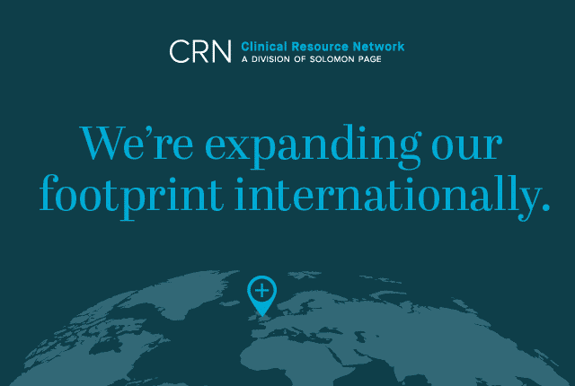 Clinical Resource Network (CRN) Expands Footprint Internationally