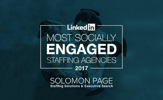 LinkedIn names Solomon Page as One of the Top 25 Most Socially Engaged Staffing Firms